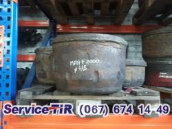 Гальмівний барабан б/у, здній, передній,МАН Ф 2000, TGA 390, MAN TGA 18.410